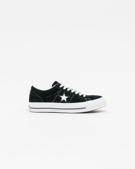 Unisex Converse One Star OX Shoes - Black/White