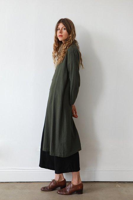 Me & Arrow Long Jacket Dress - Moss