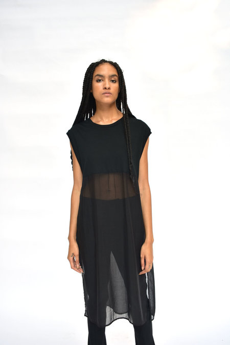 House of 950 Transparent Tunic - Black