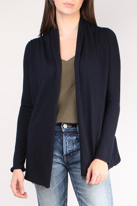 Allude Drapey Open Cardigan - Navy