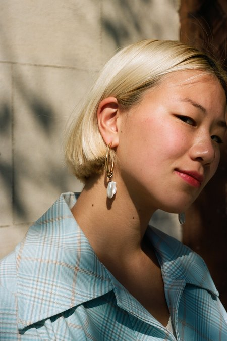 Sincerely, Tommy Pearl Drop Earrings - Gold