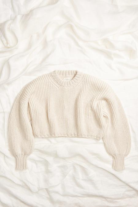 First Rite Crop Crew Sweater