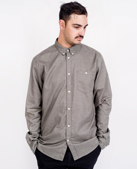 Norse Projects Anton Brushed Shirt - Sitka Green
