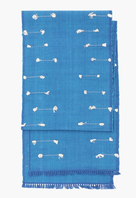 New Market Goods Dark Lahar Table Runner - cobalt blue