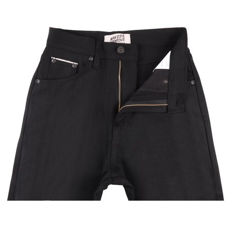 Unisex Naked & Famous Classic Fit Selvedge Denim - Solid Black