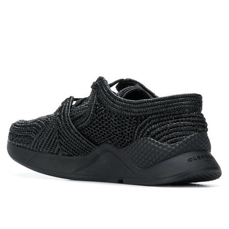 Robert Clergerie Silvio Raffia Sneaker - Black