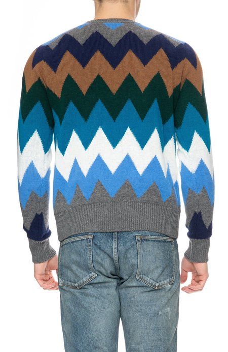 Moncler Zig-Zag Sweater - Multi Colored