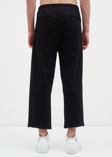 Siki Im French Terry Cropped Wide Pants -  Black