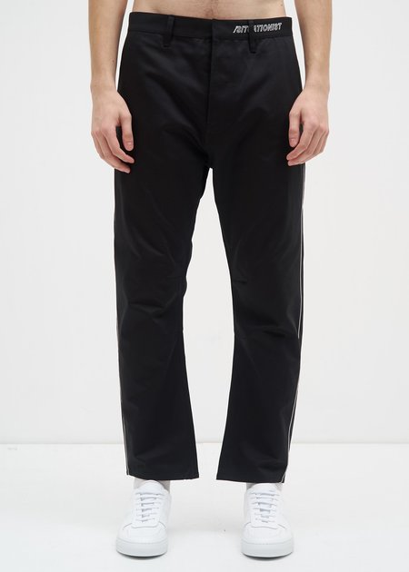 Siki Im Peg Chino w/ Piping - Black