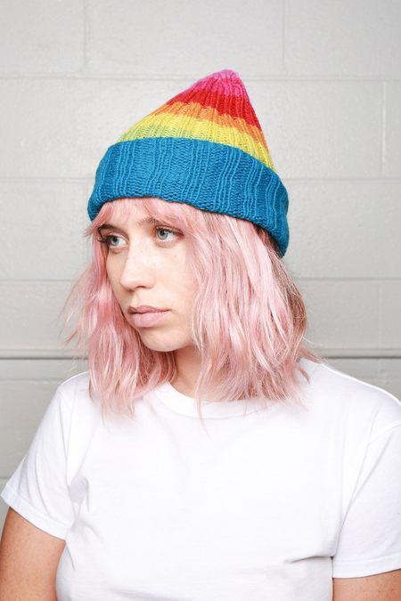 Filù Hats Cashmere Beanie - Classic Rainbow