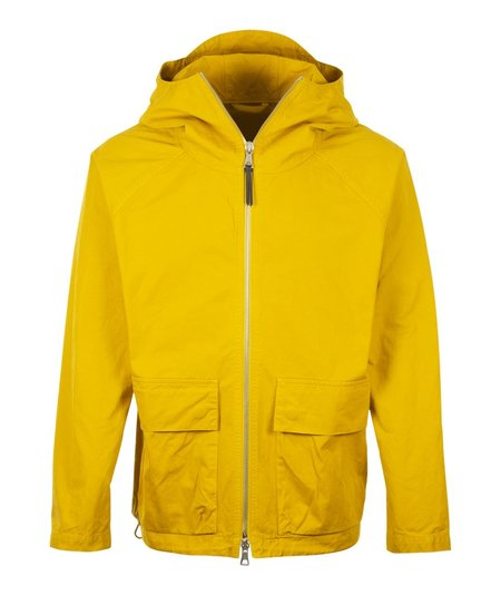 Albam Zip Hooded Short Parka - Yellow