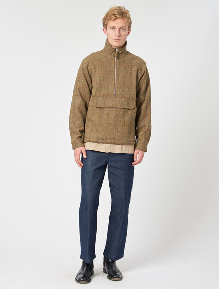 Pop Trading Company DRS Half Zip Jacket - Harris Tweed