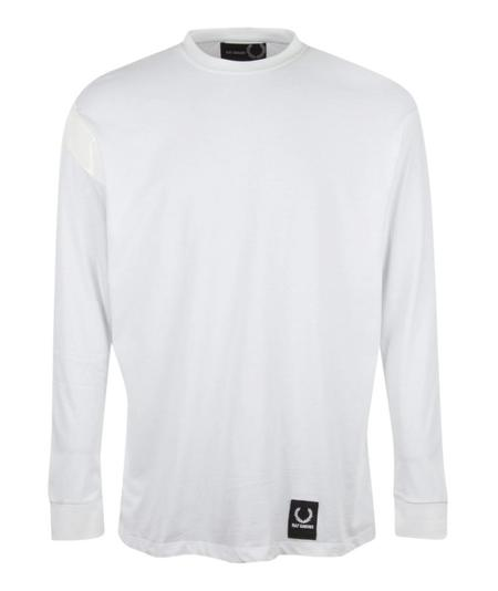Fred Perry Tape Detail L/S T-Shirt - White