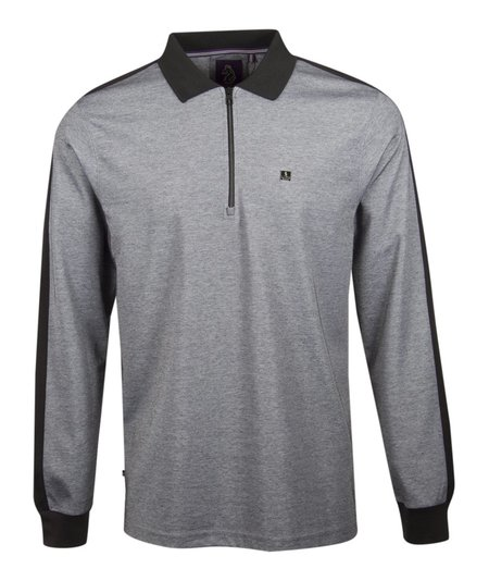 Luke 1977 Long Sleeve Ronson Zip Polo - Silver