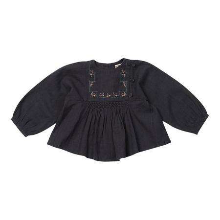 KIDS Bonton Baby Long Sleeved Shirt With Embroidery - Charcoal Grey