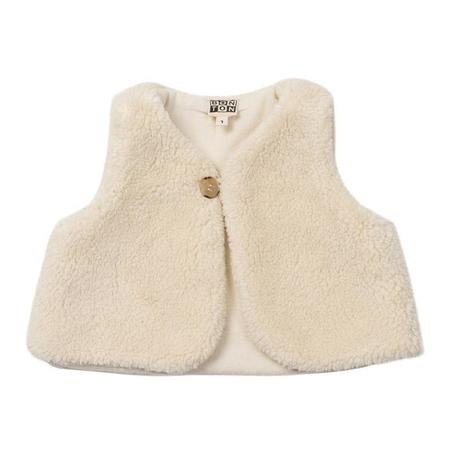 KIDS Bonton Baby Shearling Vest - Off White