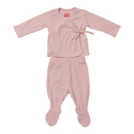 KIDS Bonton Baby Two Piece Set Newborn Long Sleeved Shirt And Leggings - Marshmallow Pink