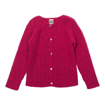 KIDS Bonton Child Ribbed Cardigan - Shocking Pink