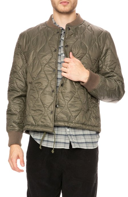 Save Khaki Quilted Nylon Bomber Jacket - Olive