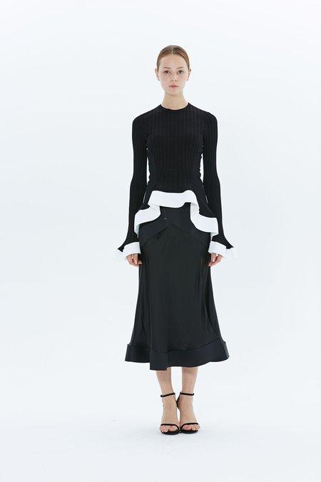 Esteban Cortazar Contrast Circle Skirt