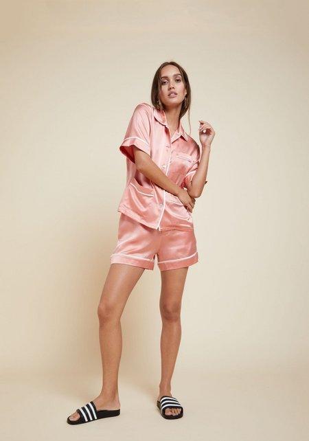 Olivia Von Halle Millicent Silk Short Shirt Set