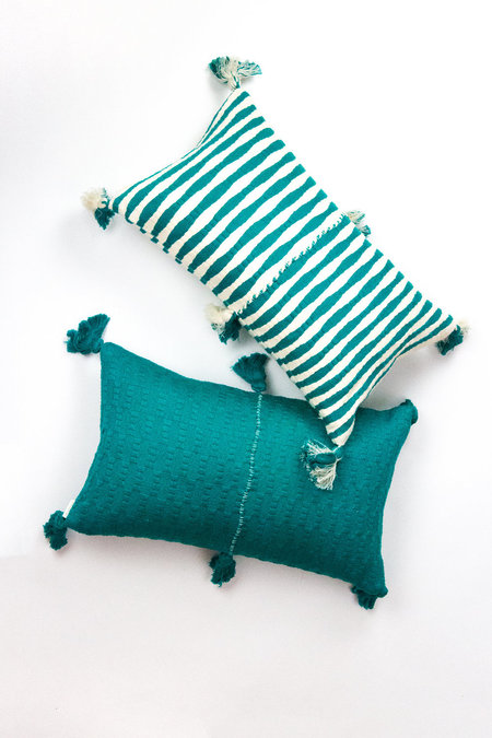 Archive New York Antigua Pillow - Jade Stripe