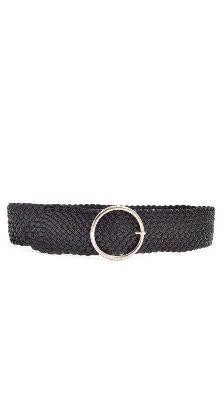 ANDERSON'S Plaited Wide Belt - Black