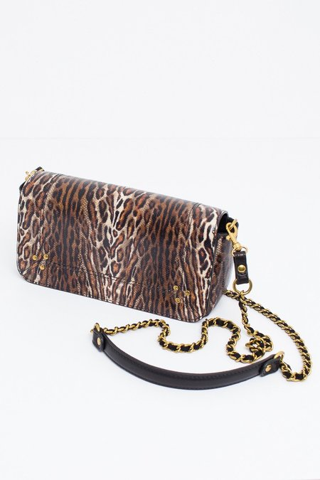 Jerome Dreyfuss Bob Snakeskin Bag - Leopard