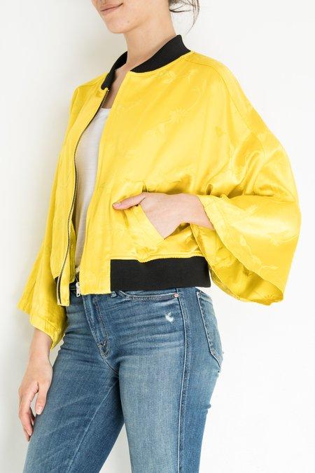 Hache Bomber Jacket - Yellow