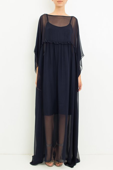 Louiza Babouryan Chiffon Caftan Dress - Midnight