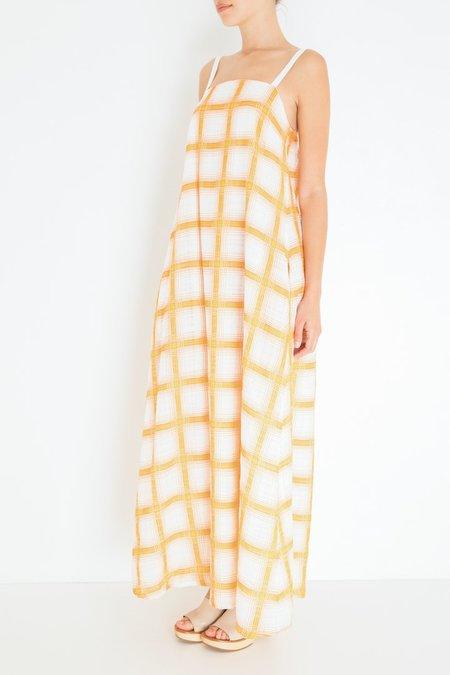 Massimo Alba Kyra Dress - Orange Plaid