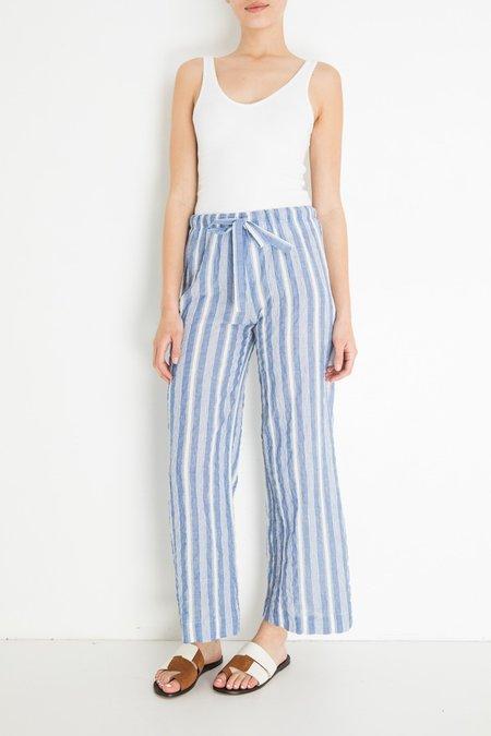 Aspesi & Co Seersucker Pant - Blue/White