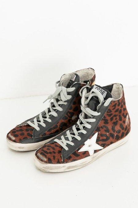 Golden Goose Francy Sneakers - Cognac Leopard
