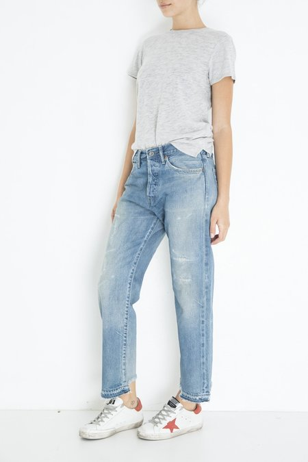 Chimala Used Ankle Cut Jeans - Vintage Light