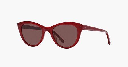 Garret Leight California Optical x Clare V. Coquelicot 47 - Maroon