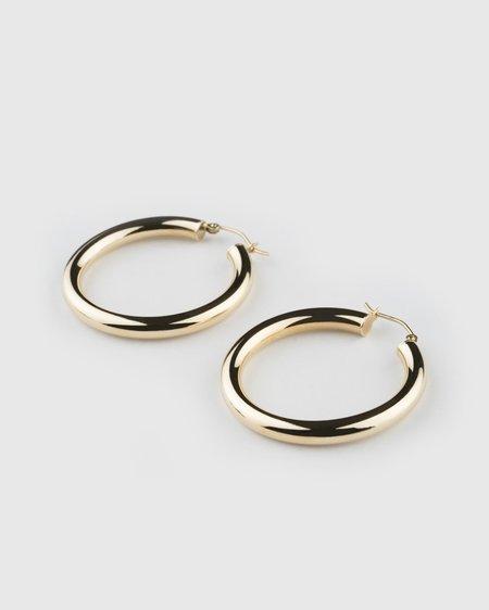 Seldom Seen Large Hoops Earrings - Yellow Gold