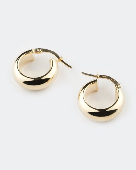 Seldom Seen Bold Rounded Hoops Earrings - Yellow Gold
