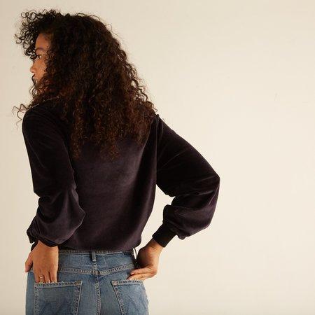 Acote Asana Velvet Sweatshirt - Ink