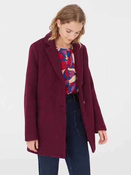 Nice Things Textured Coat - Magenta