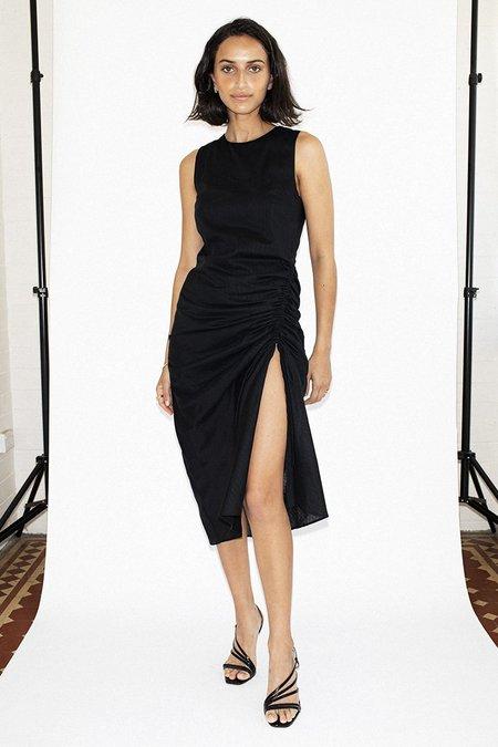 Third Form Straight Out Midi Dress -Black Stripe