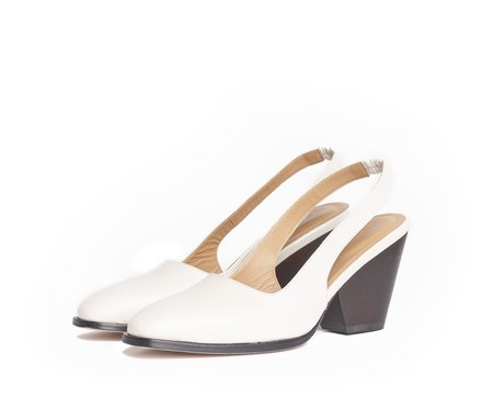 The Palatines Imago Duo Slingback with Wood Heel - Lunar