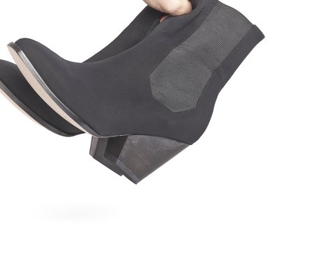 The Palatines Inergia Duo Textile Chelsea Boot - Black