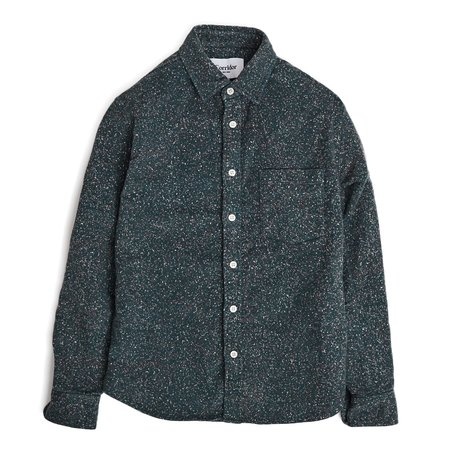 Corridor Christmas Light Moleskin Flannel Long Sleeves - Green