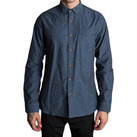 Descendant of Thieves Chambray Dot Shirt - Blue