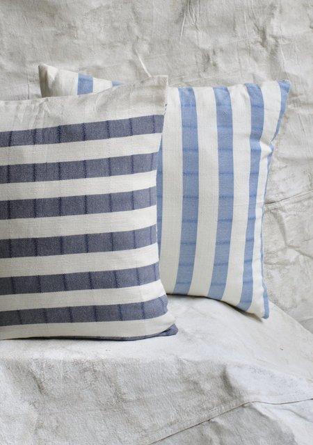 Cuttalossa Cotton Striped Pillow - Slate Blue