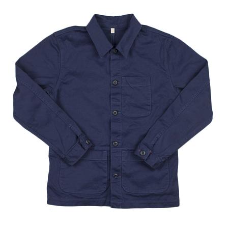 Raleigh Denim Chore Coat Polo - Navy