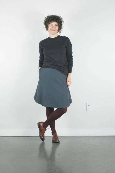 Atelier b. Cotton Skirt - Charcoal