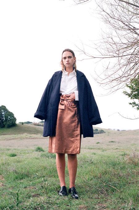 KAMPERETT Florence Jacquard Skirt - Copper