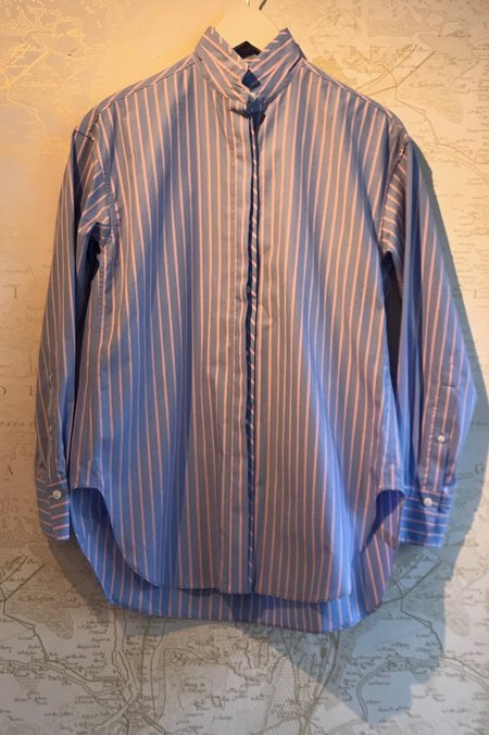 Rag & Bone Audrey Striped Button Down Shirt - Blue