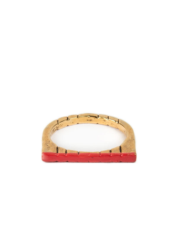 Bones and Feathers Collective Horseshoe Ring